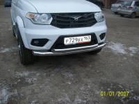 Передняя защита УАЗ Патриот двойная new(нерж.)