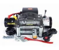 Лебедка электрическая 24V Electric Winch 12000lbs / 5443 кг со стальным тросом