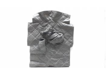Коврик под рычаги 469 темно-серый прострочка ромбом
