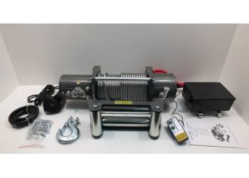 Лебедка электрическая 12V Electric Winch 12000lbs/5443 кг со стальным тросом, блок управления влагозащищен