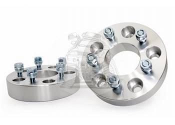 Проставка ступичная 5X114.3mm (5-4.5) (1шт) алюминий (толщина: 25мм, центральное отверстие 67,1mm, резьба на шпильках: 1.5) 5X114.3