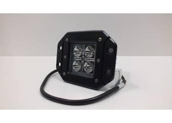 Фара светодиодная 16W 4 диода по 4Вт, врезная, ближний свет.