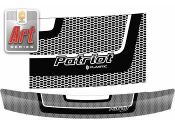 Дефлектор капота UAZ Patriot Sport 2005г (Classic черный)