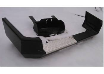 Силовой обвес на УАЗ Патриот Партизан задний со скрытой площадкой под лебедку